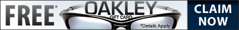 Claim your free $1000 Oakley gift card.