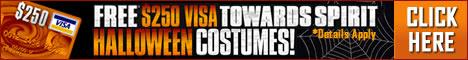 Get a $250 gift card towards Spirit Halloween Costumes.